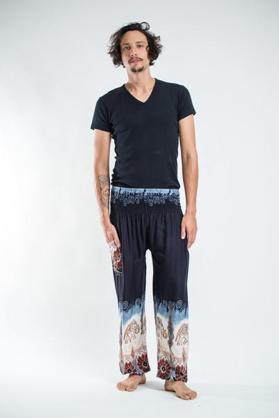 Solid Top Elephants Men's Harem Pants in Black