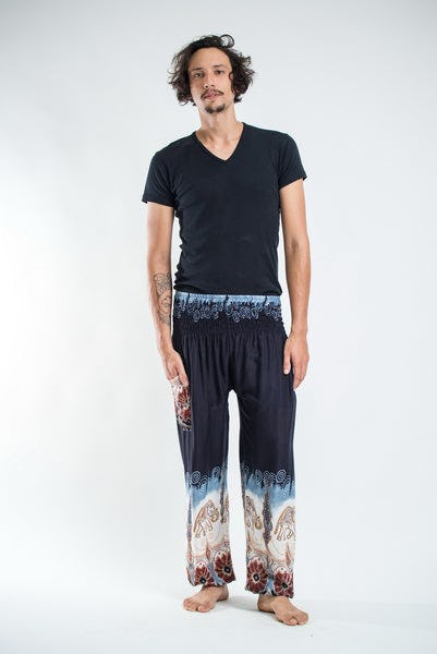 Solid Top Elephant Men's Elephant Pants in Black