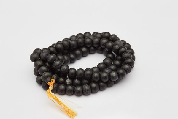 Hand Made Black Thai Wooden Mala Bead Necklace Bracelet
