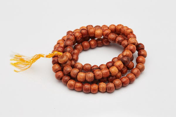 Hand Made Brown Wood Thai Wooden Mala Bead Necklace Bracelet