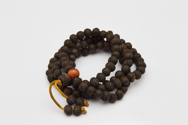 Dark Rudraksha Mala Bead Necklace Bracelet