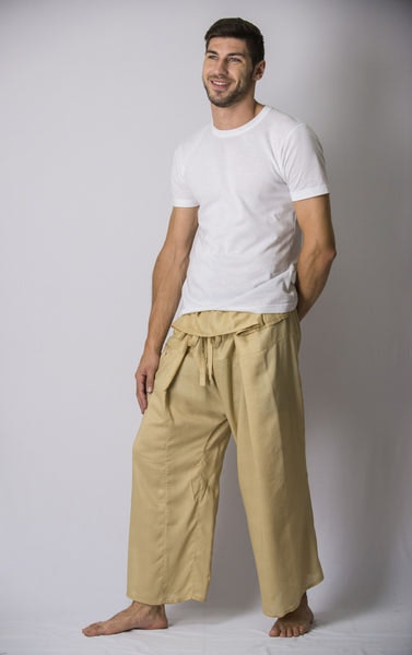 Unisex Thai Fisherman Pants in Beige