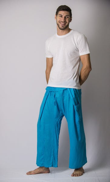 Unisex Thai Fisherman Pants in Blue