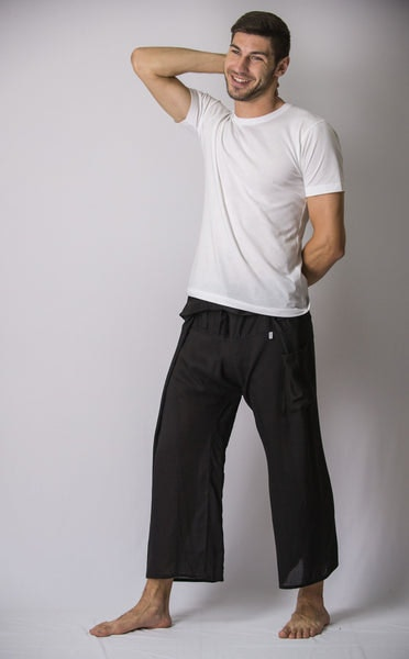 Unisex Thai Fisherman Pants in Black