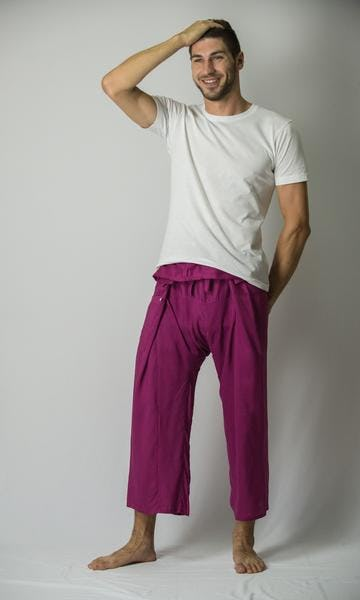 Unisex Thai Fisherman Pants in Purple