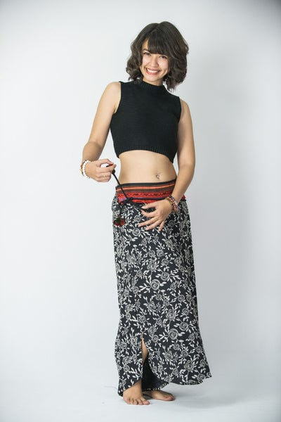 Rose PrintsThai Hill Tribe Fabric Womens Palazzo Pants