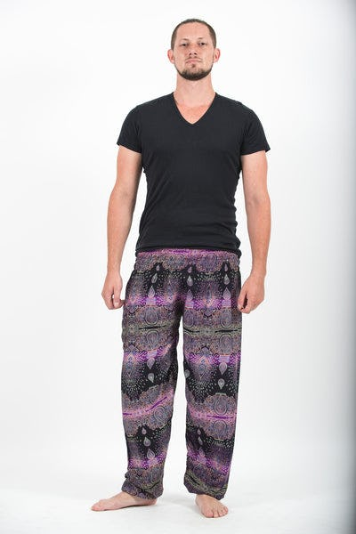 Paisley Men's Harem Pants in Purple