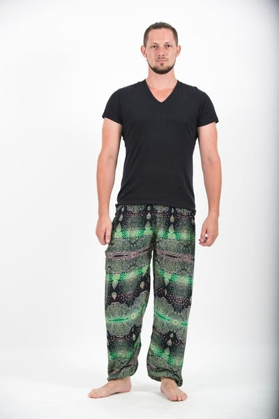 Paisley Men's Harem Pants in Green