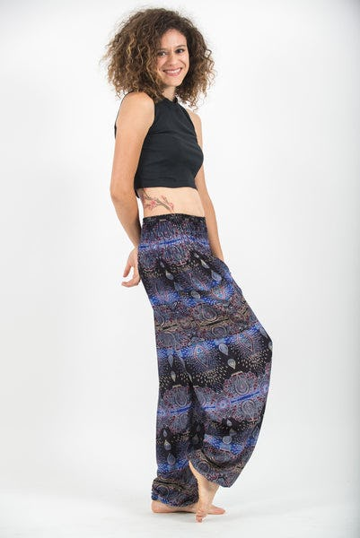 Paisley Women's Harem Pants in Blue