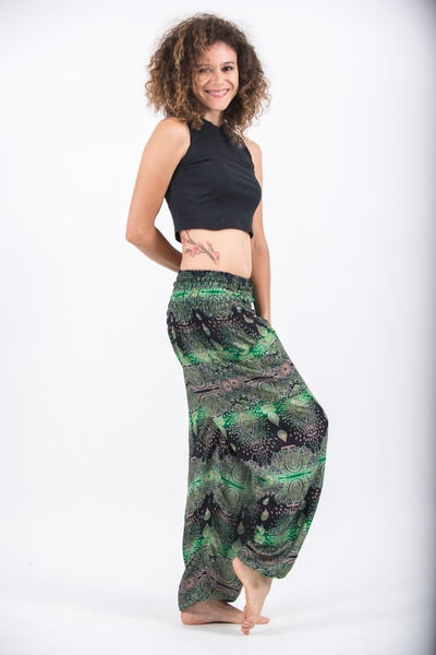 Paisley Women's Harem Pants in Green