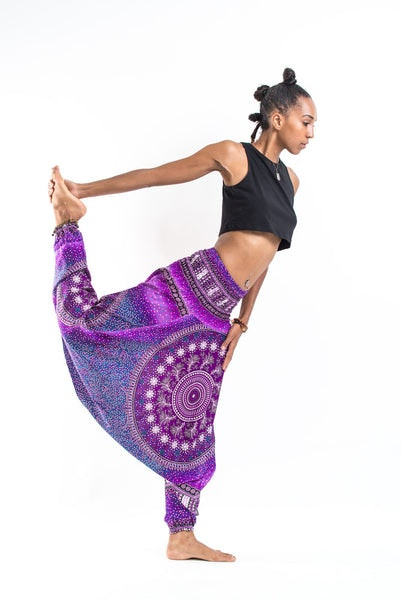 Tribal Chakras Jumpsuit Harem Pants in Purple