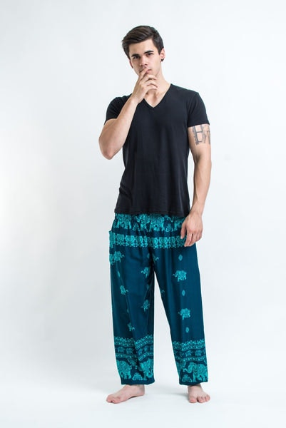Elephant Raja Men's Harem Pants in Blue