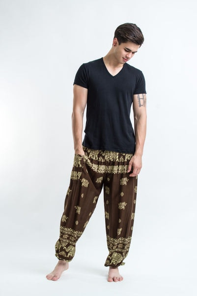 Elephant Raja Men's Harem Pants in Olive