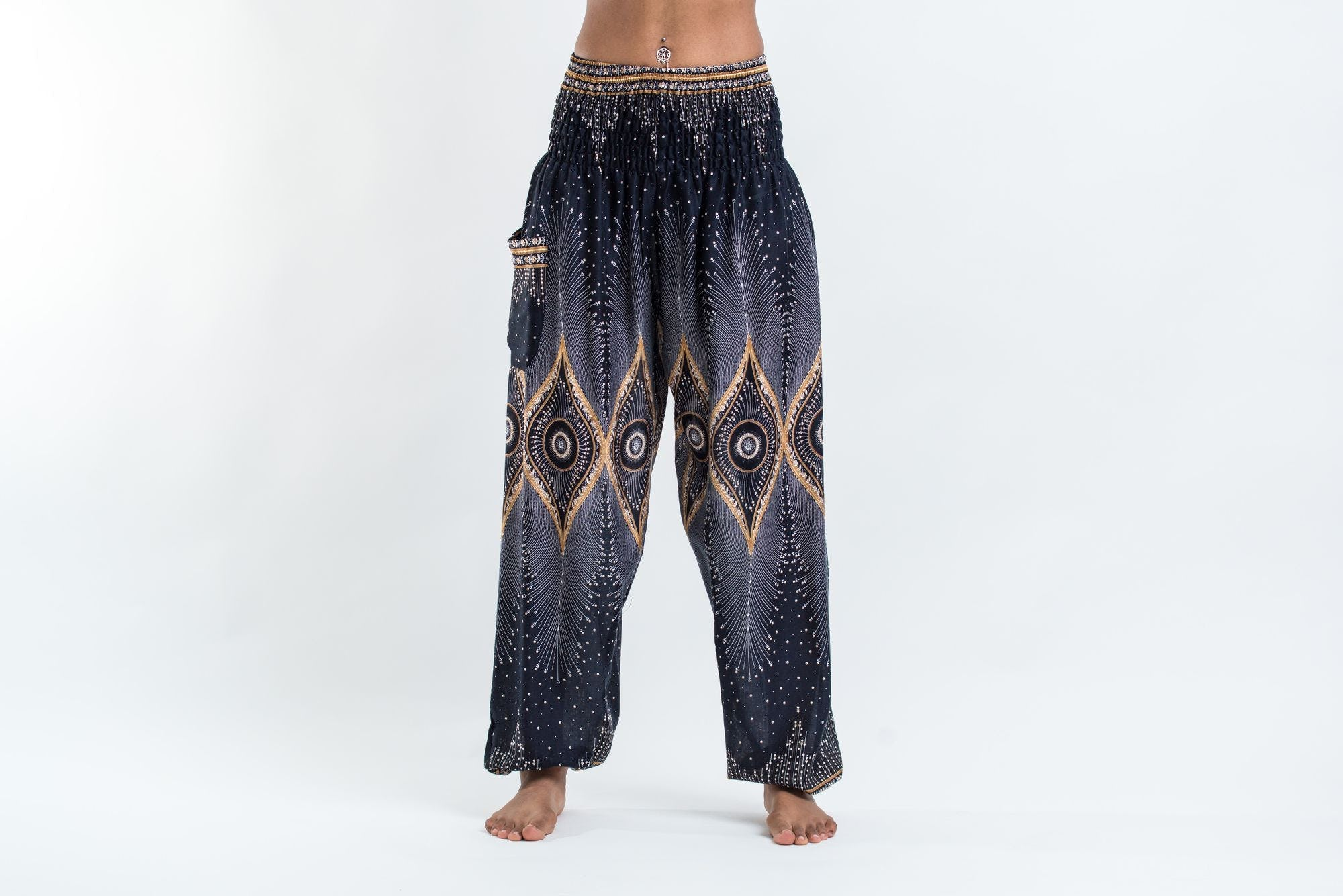 Excellent Harem Pants Geometric Mandalas Women S Harem Pants In Red