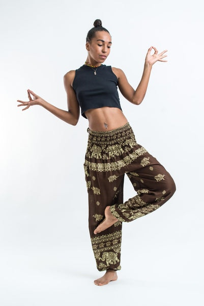 Elephant Raja Women's Harem Pants in Olive