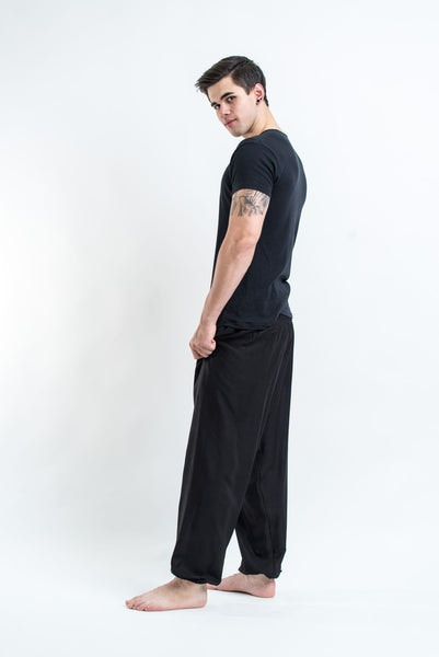 Solid Color Men's Harem Pants in Black