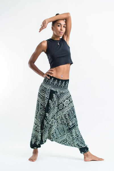 Tribal Prints Jumpsuit Harem Pants in Green