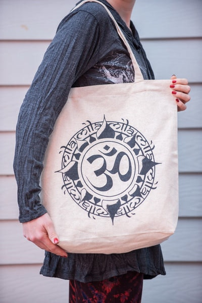 Recycled Cotton Canvas Shopping Tote Bag Ohm Natural