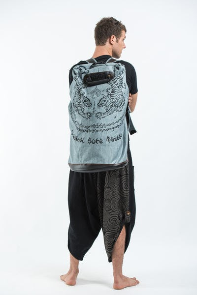 Thai Tattoo Denim Gear Backpack