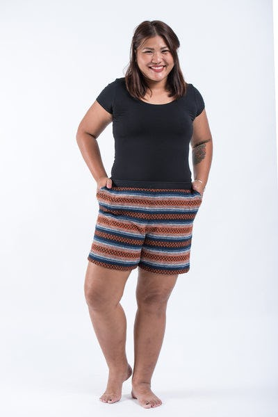 Plus Size Hill Tribe Women's Shorts In Orange