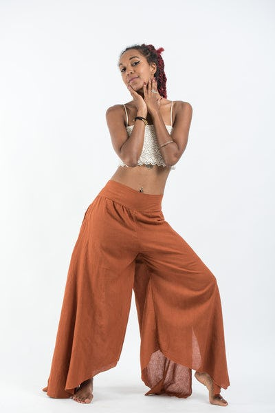 Women's Cotton Tinkerbell Palazzo Pants in Brick