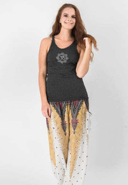 Super Soft Sure Design Women's Tank Tops Om Mandala Black