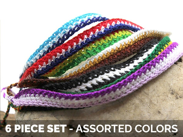 Friendship Woven String Bracelet 6 Pcs. PACK