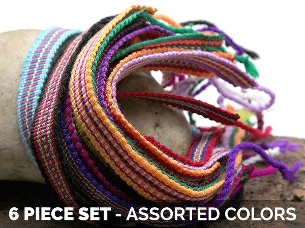 Friendship Loomed String Bracelet 6 Pcs. PACK