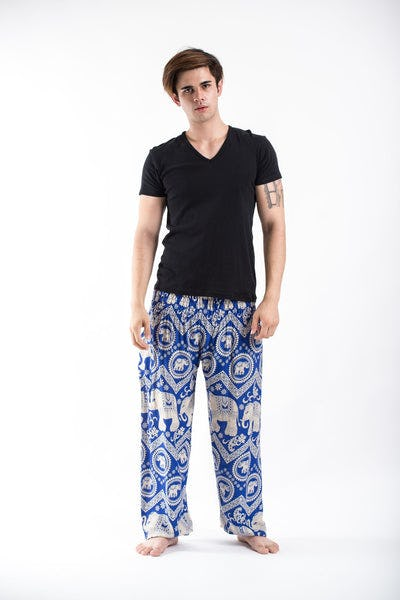 Imperial Elephant Men's Harem Pants in Blue