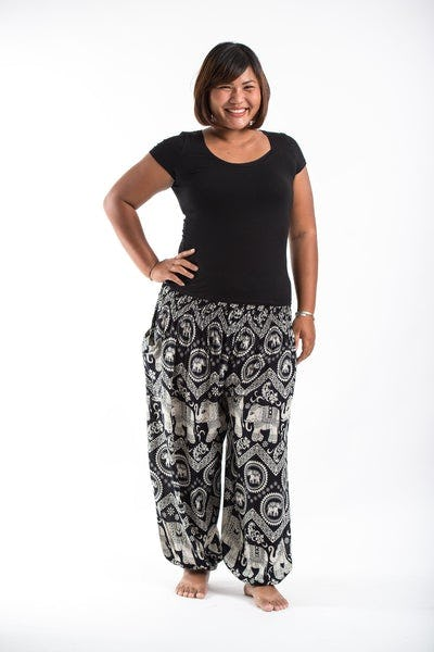 Plus Size Imperial Elephant Women's Elephant Pants in Black