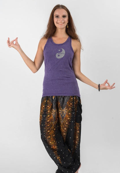 Super Soft Sure Design Women's Tank Tops Yin Yang Grape