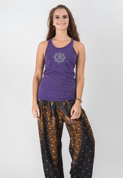 Super Soft Sure Design Women's Tank Tops Om Mandala Grape