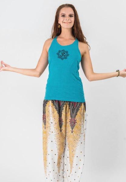 Super Soft Sure Design Women's Tank Tops Om Mandala Turquoise