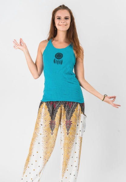 Super Soft Sure Design Women's Tank Tops Dream Catcher Turquoise