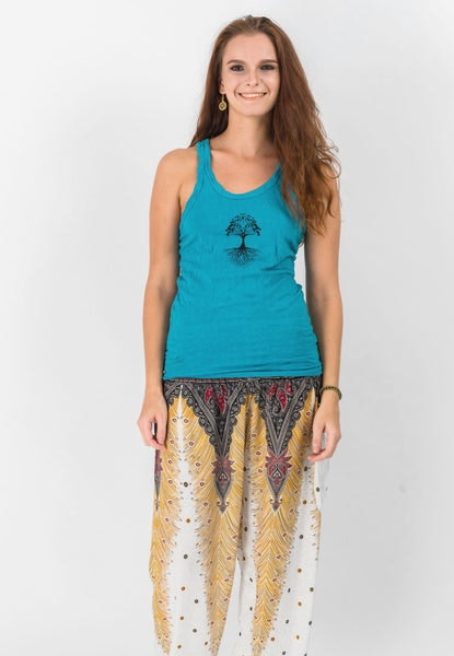 Super Soft Sure Design Women's Tank Tops Tree of Life Turquoise